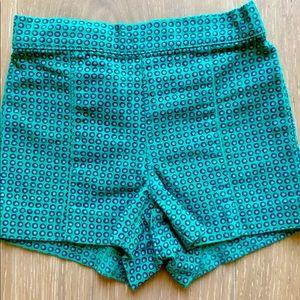 Green pique shorts